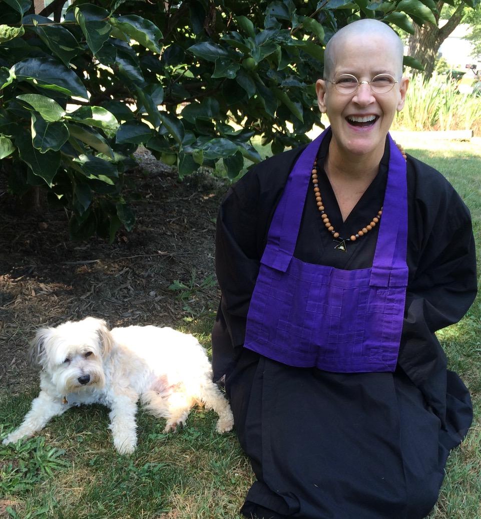 Caroline Yongue Savana Amata and her dog Jasper